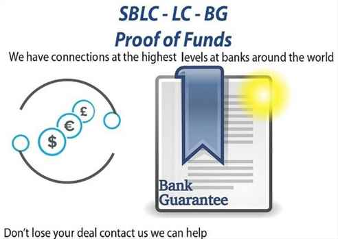 ProjectBusiness FinancingBG-SBLC-MT760Credit-LoanMonetizingMT799Eurobonds